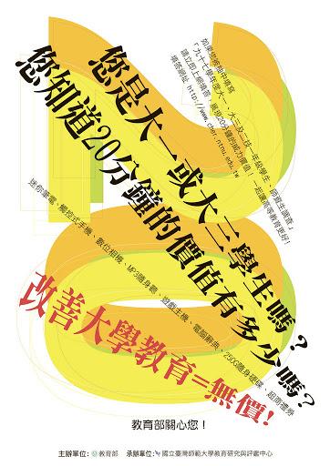 2009April 台灣師範大學教育與研究評鑑中心_台灣高等師資問卷調查資料庫 海報_印製5000份發送到全台灣163間大專院校